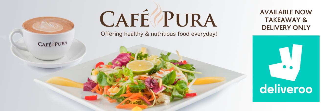 Cafe Pura Delivers Banner