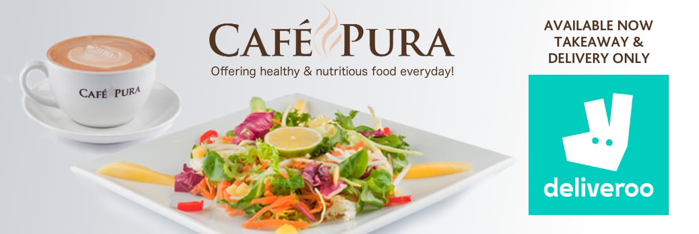 Cafe Pura Delivers Banner